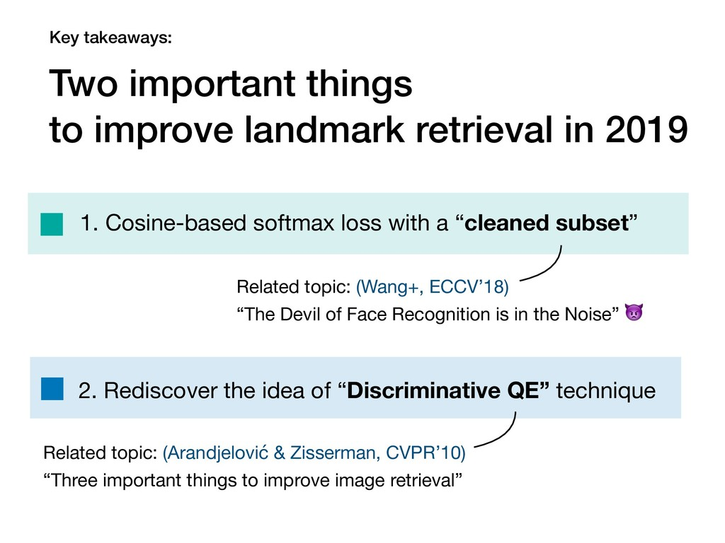 Key takeaways: Two important things to improve ...