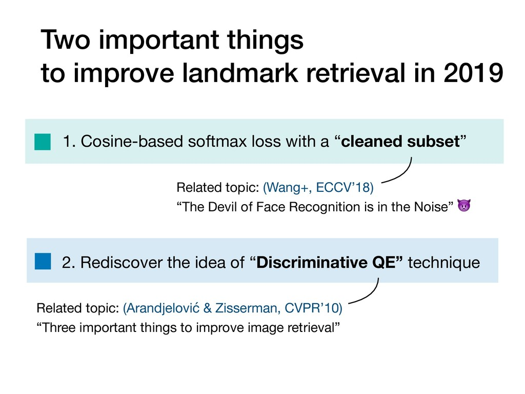 Two important things to improve landmark retrie...