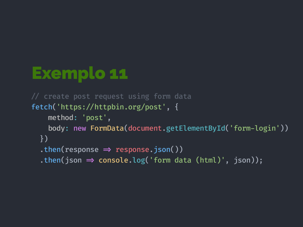 Exemplo 11 !// create post request using form d...