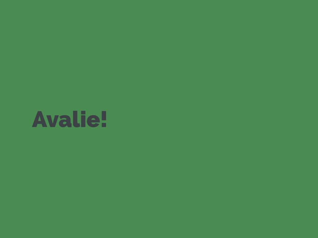 Avalie!