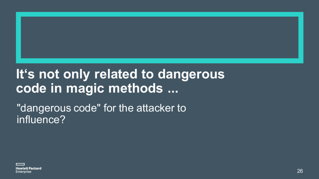 It's not only related to dangerous code in magi...
