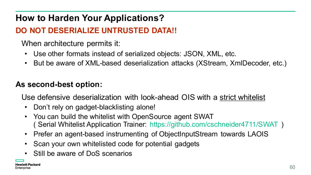 How to Harden Your Applications? DO NOT DESERIA...