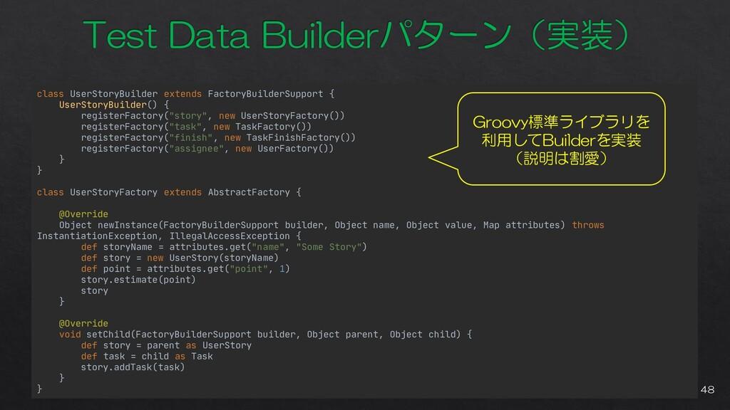 class UserStoryBuilder extends FactoryBuilderSu...