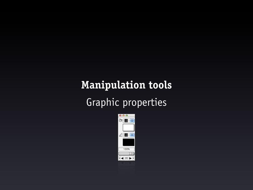 Manipulation tools Graphic properties