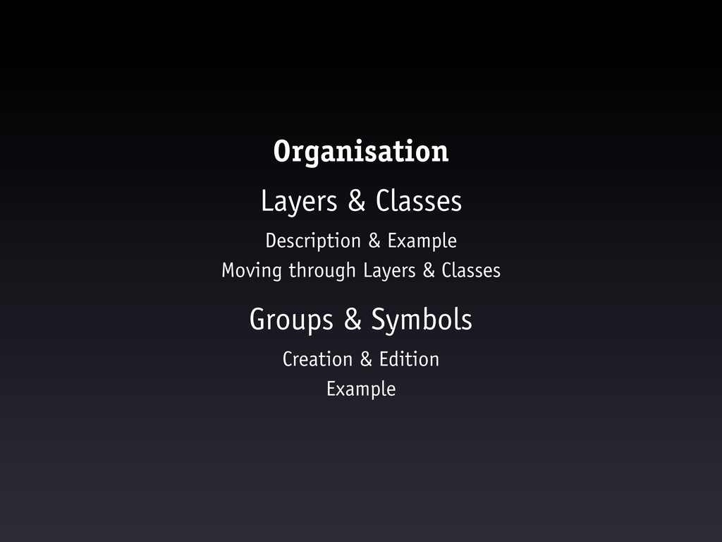 Organisation Layers & Classes Description & Exa...