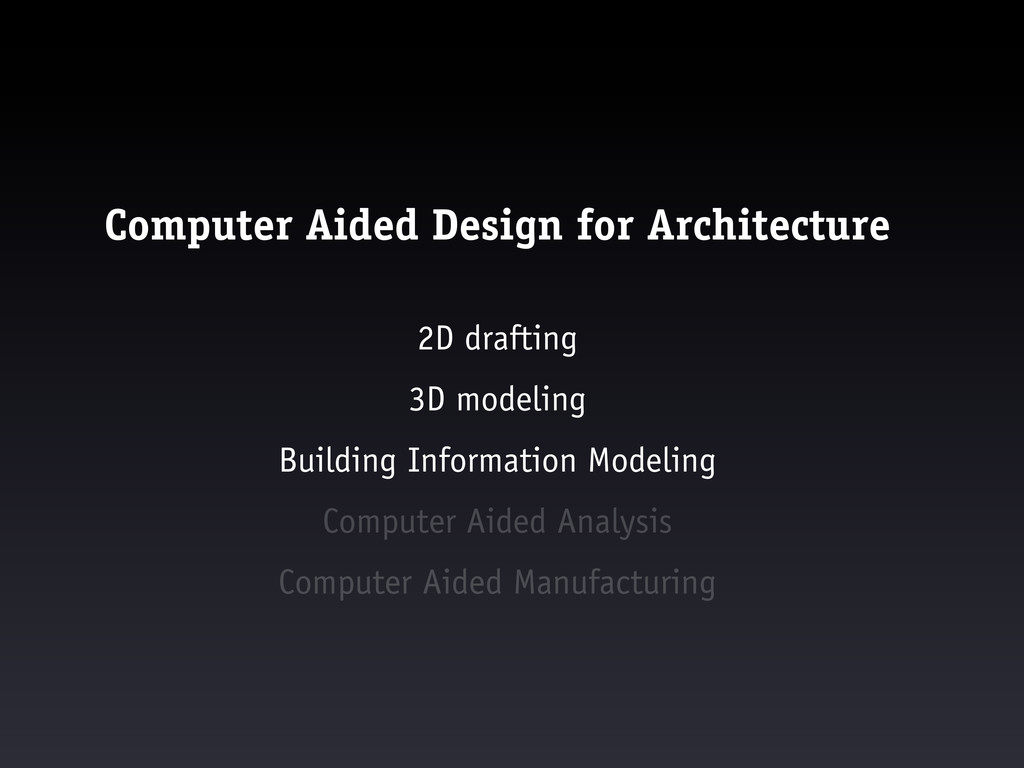Computer Aided Design for Architecture 2D draft...
