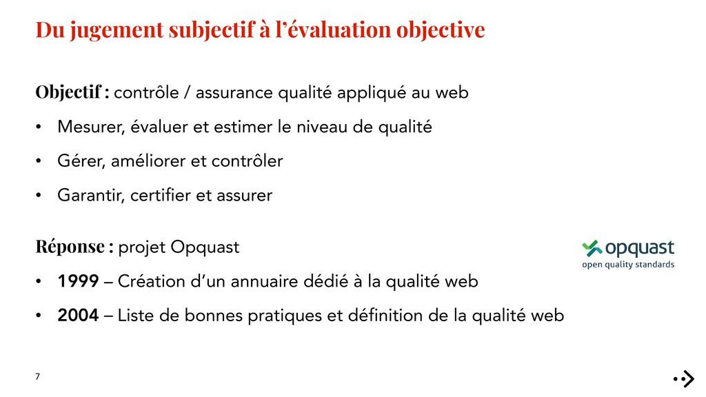 7 Du jugement subjectif à l'évaluation objectiv...