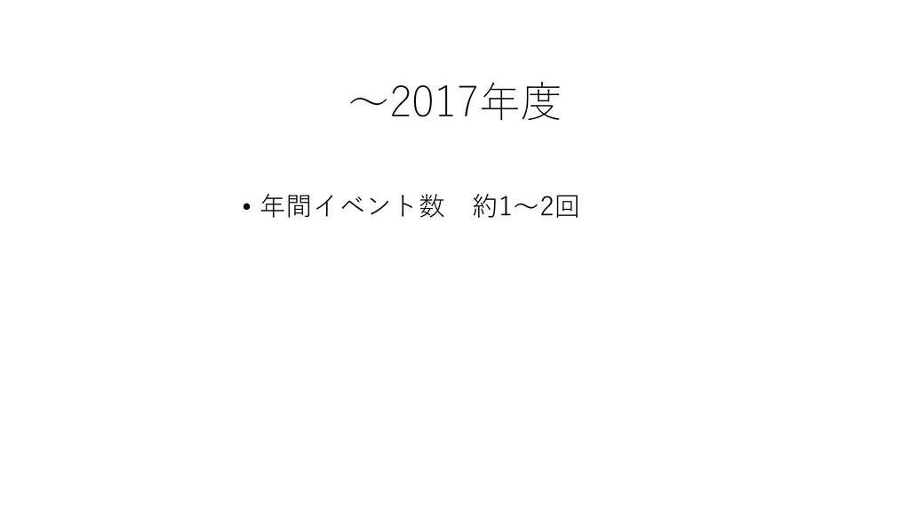 ~2017年度 • 年間イベント数 約1~2回