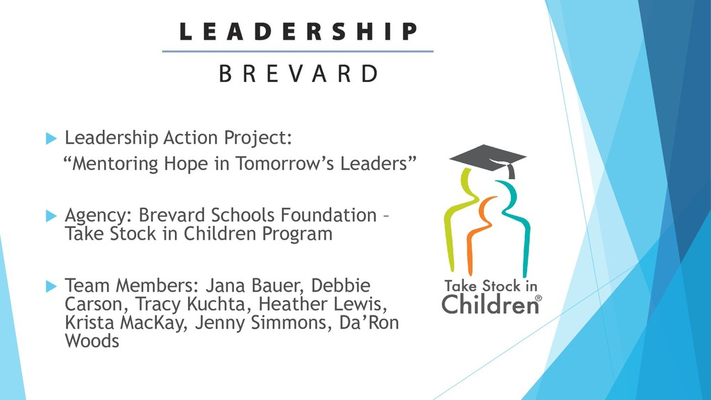 " Leadership Action Project: ""Mentoring Hope in..."
