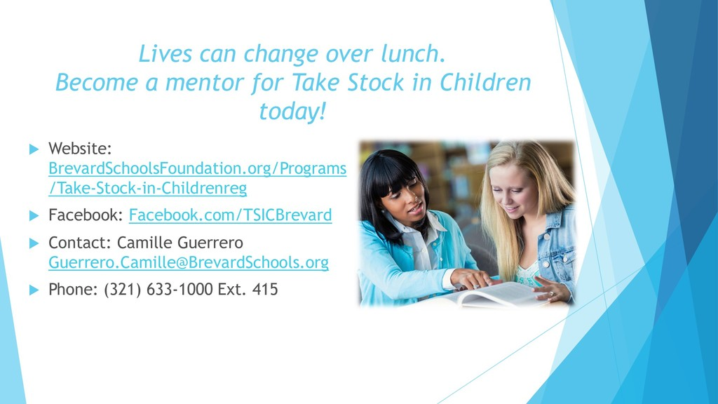Lives can change over lunch. Become a mentor fo...