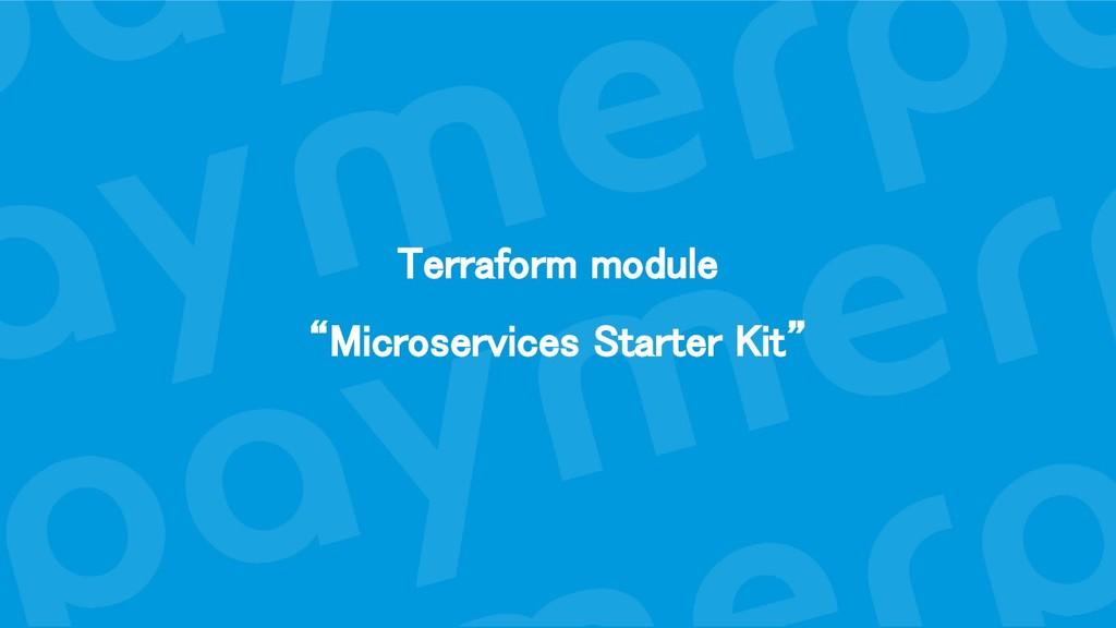 "Terraform module ""Microservices Starter Kit"""