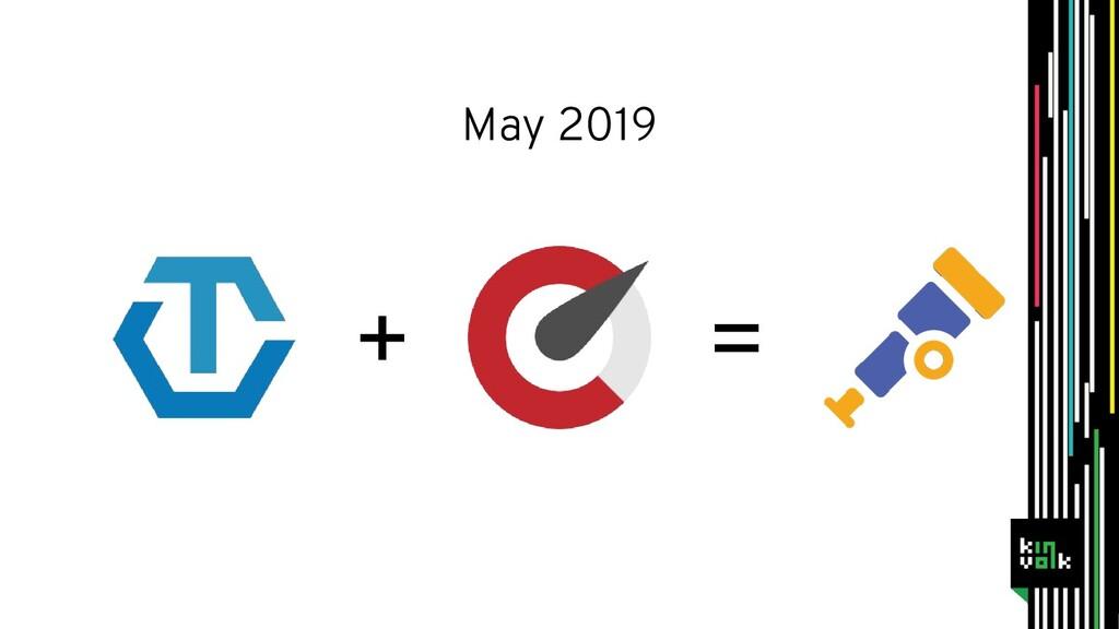 + = May 2019