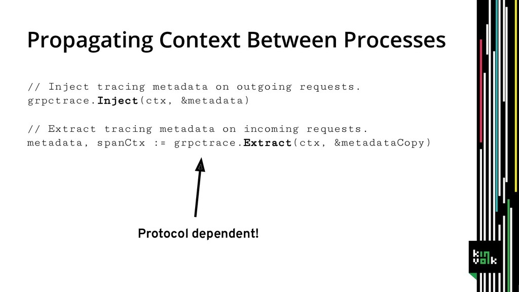 // Inject tracing metadata on outgoing requests...