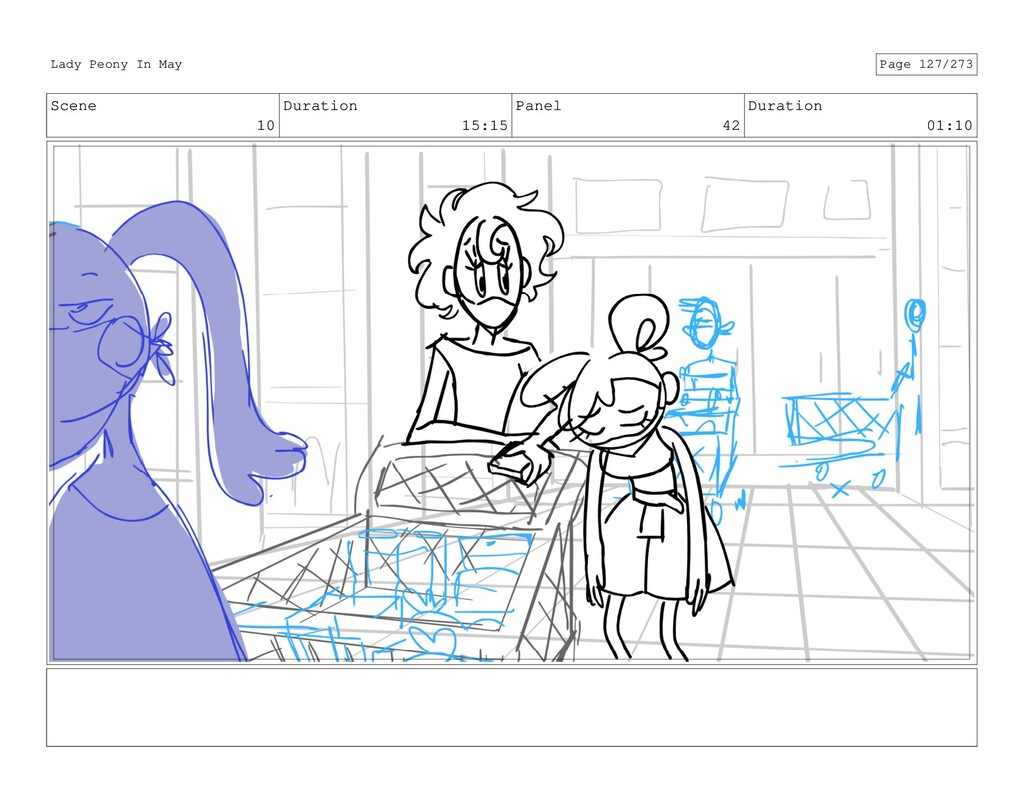 Scene 10 Duration 15:15 Panel 42 Duration 01:10...