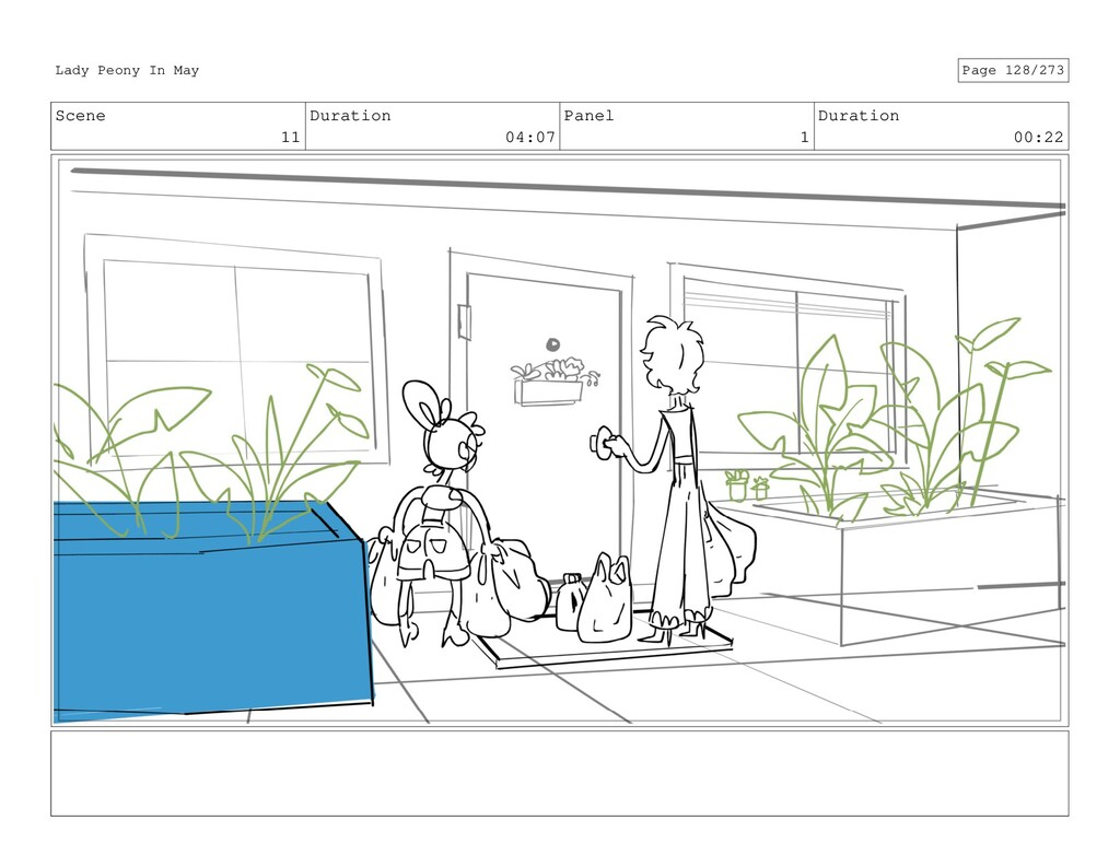 Scene 11 Duration 04:07 Panel 1 Duration 00:22 ...