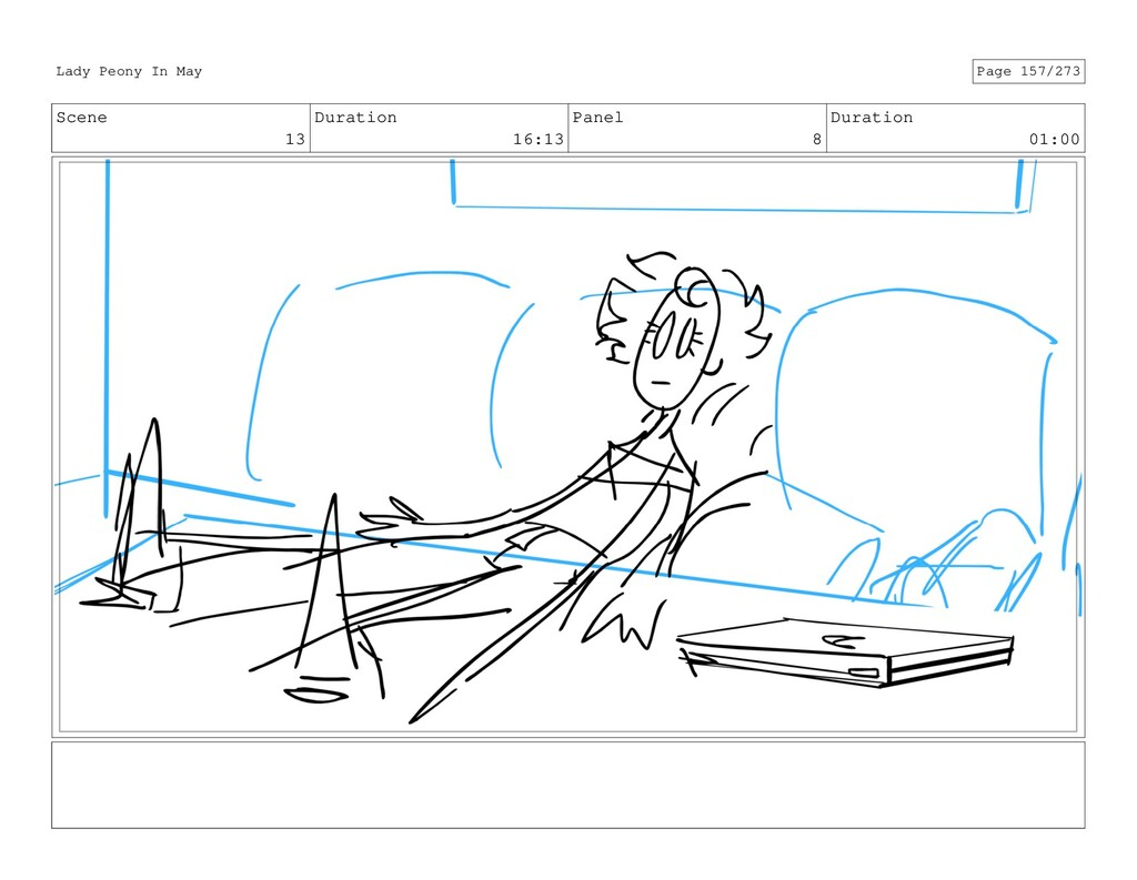Scene 13 Duration 16:13 Panel 8 Duration 01:00 ...