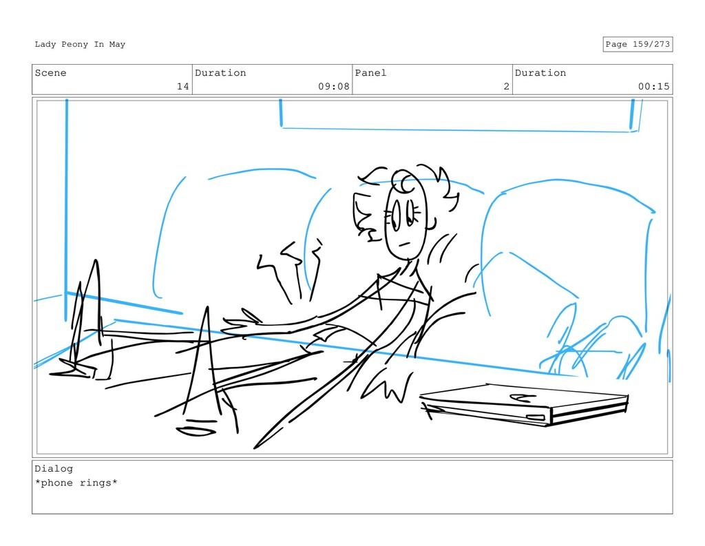 Scene 14 Duration 09:08 Panel 2 Duration 00:15 ...