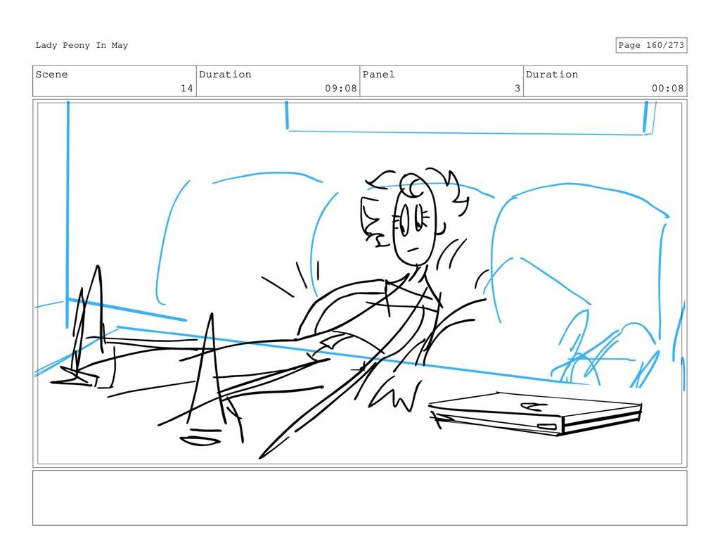 Scene 14 Duration 09:08 Panel 3 Duration 00:08 ...