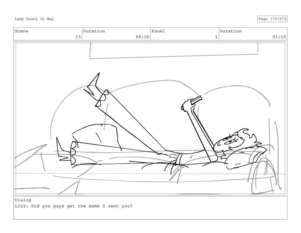 Scene 15 Duration 06:20 Panel 1 Duration 01:16 ...