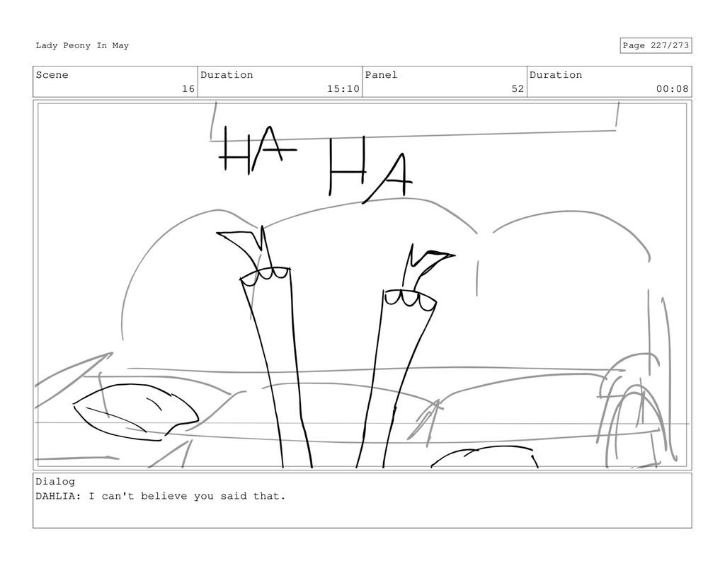 Scene 16 Duration 15:10 Panel 52 Duration 00:08...
