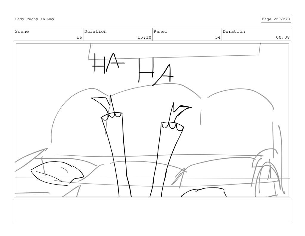 Scene 16 Duration 15:10 Panel 54 Duration 00:08...