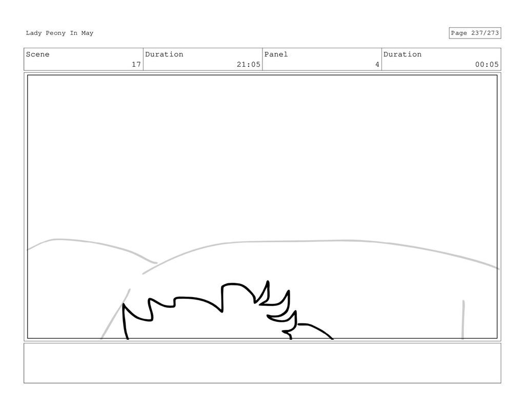 Scene 17 Duration 21:05 Panel 4 Duration 00:05 ...