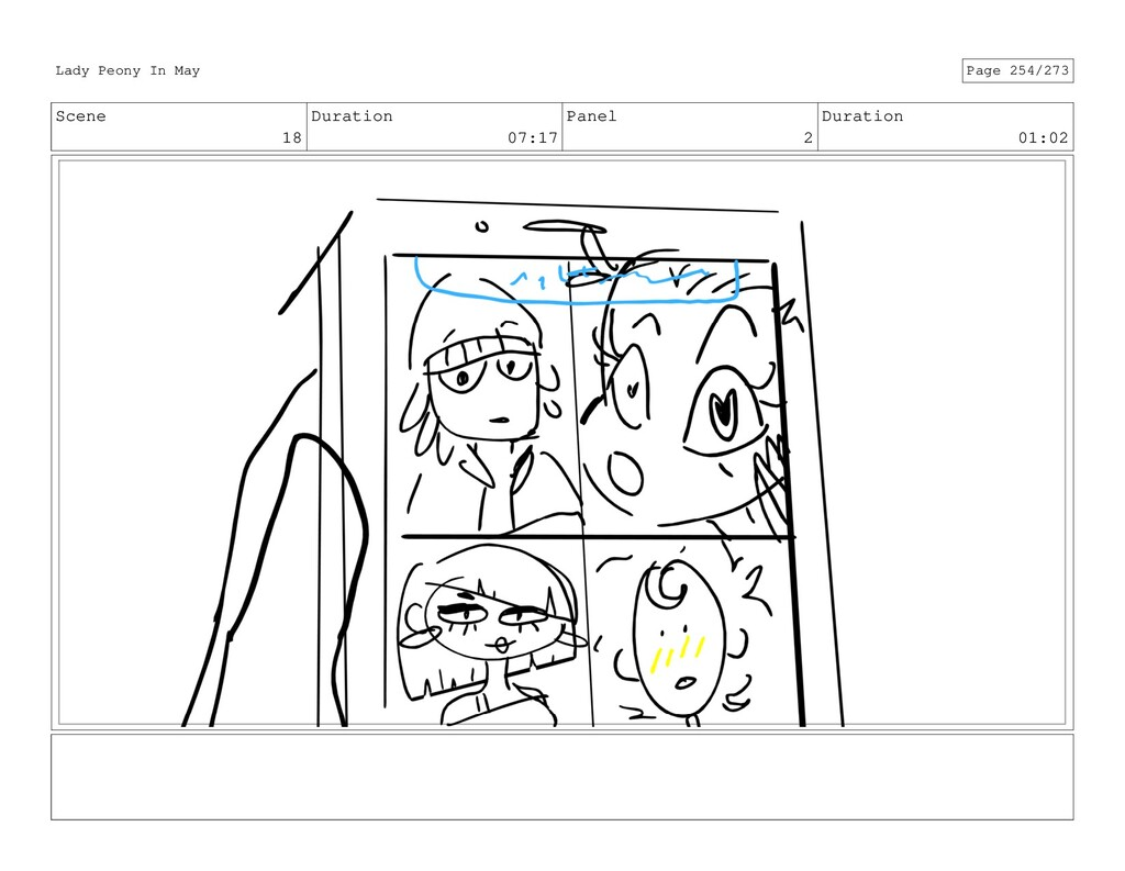 Scene 18 Duration 07:17 Panel 2 Duration 01:02 ...