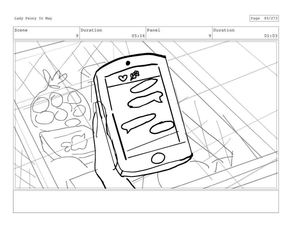 Scene 9 Duration 05:16 Panel 9 Duration 01:03 L...