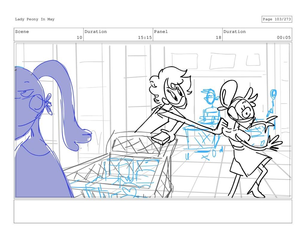 Scene 10 Duration 15:15 Panel 18 Duration 00:05...