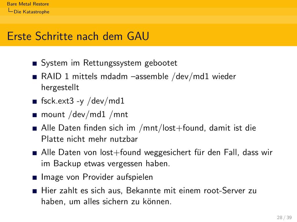 Bare Metal Restore Die Katastrophe Erste Schrit...