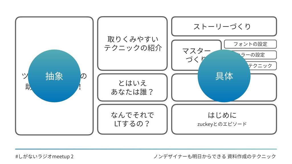 ノンデザイナーも明日からできる 資料作成のテクニック #しがないラジオmeetup 2 資料づ...