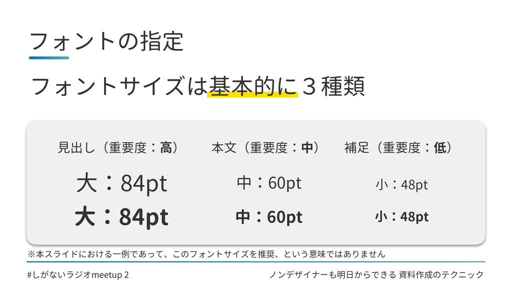 ノンデザイナーも明日からできる 資料作成のテクニック フォントの指定 #しがないラジオmeet...