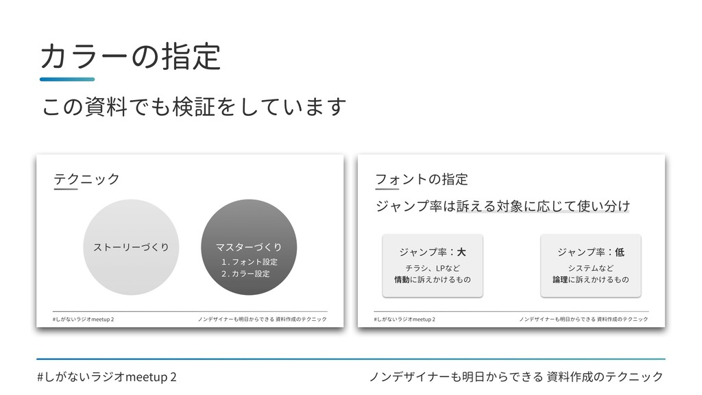 ノンデザイナーも明日からできる 資料作成のテクニック カラーの指定 #しがないラジオmeetu...