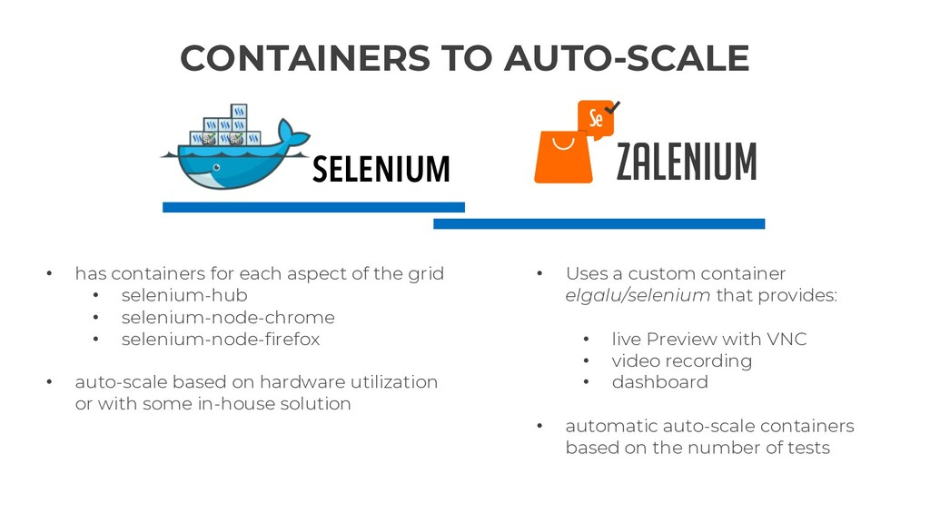 CONTAINERS TO AUTO-SCALE • has containers for e...