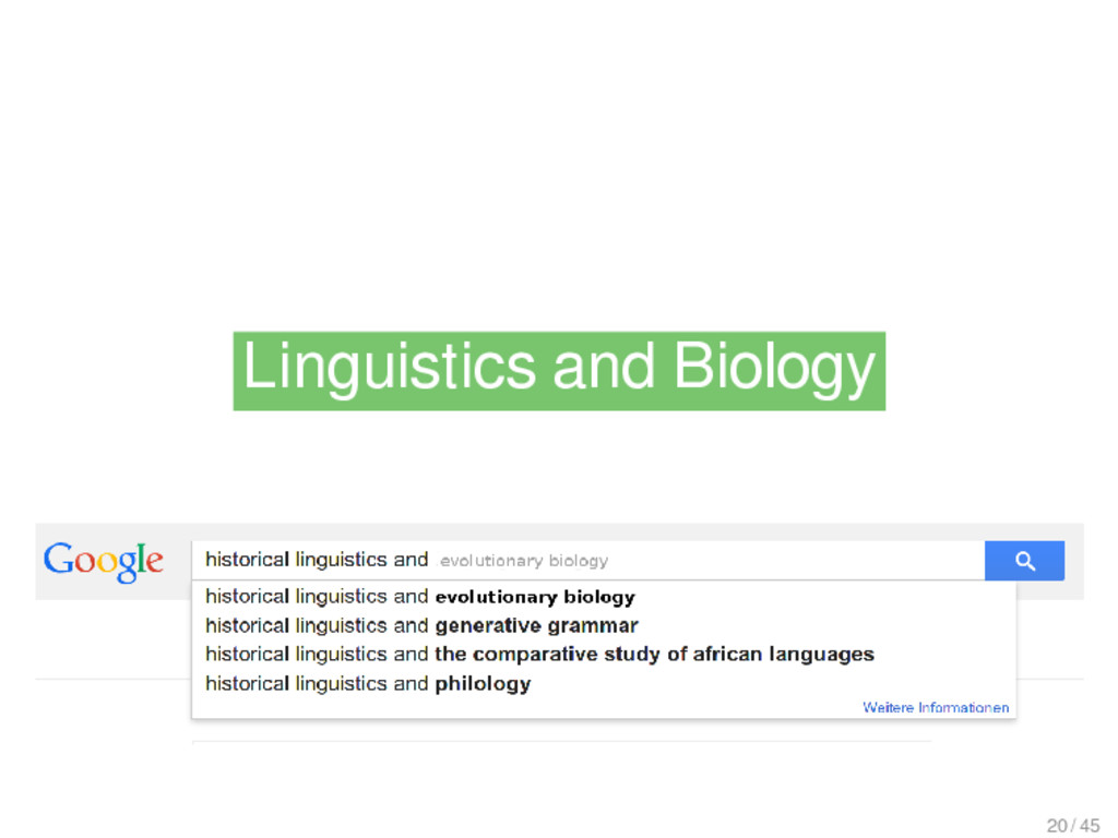Linguistics and Biology Linguistics and Biology...