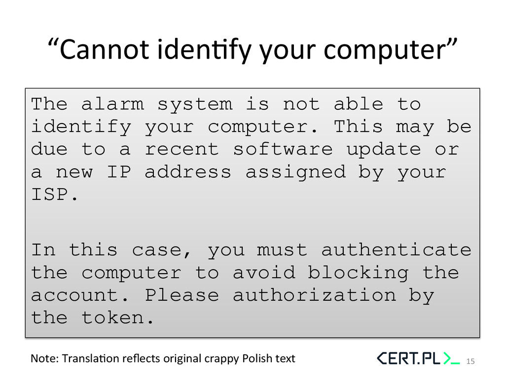 """""""Cannot idenGfy your computer""""  The..."""