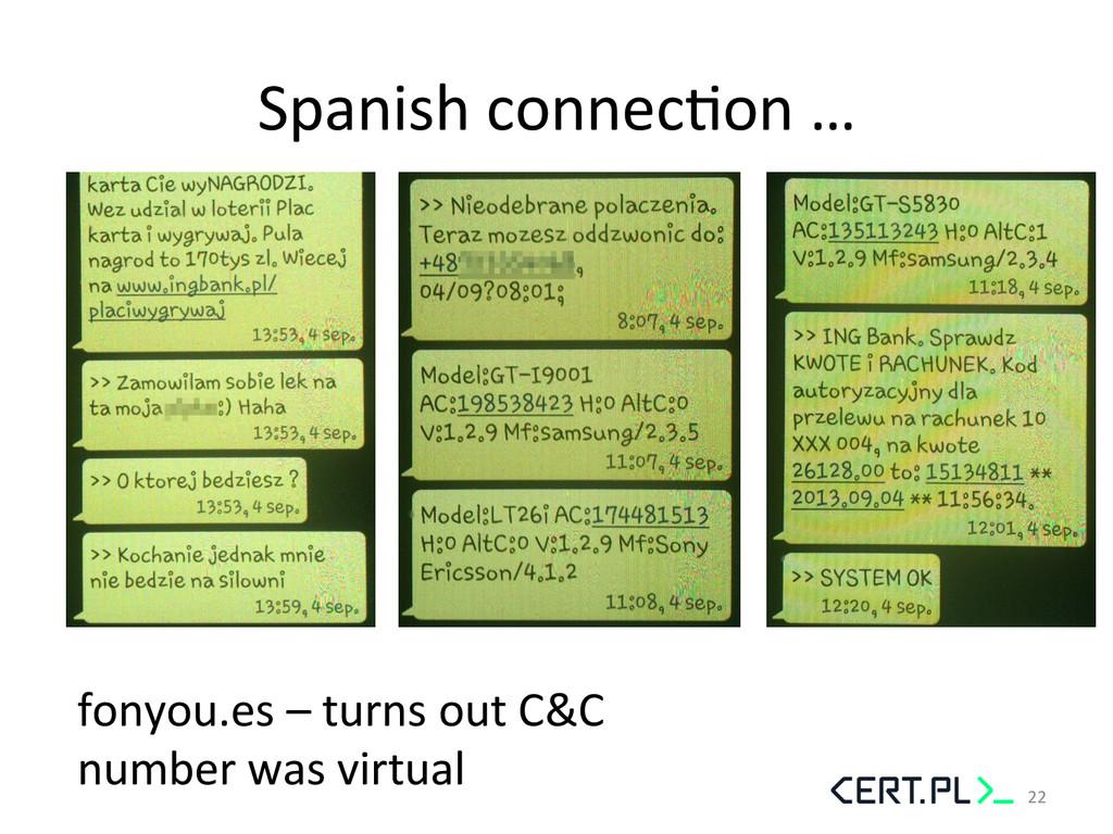 Spanish connecGon …  fonyou.es – ...