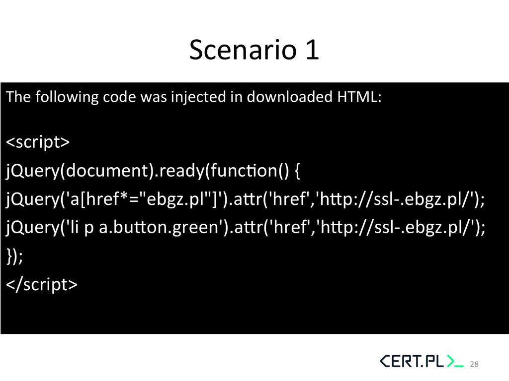 Scenario 1  The following code w...