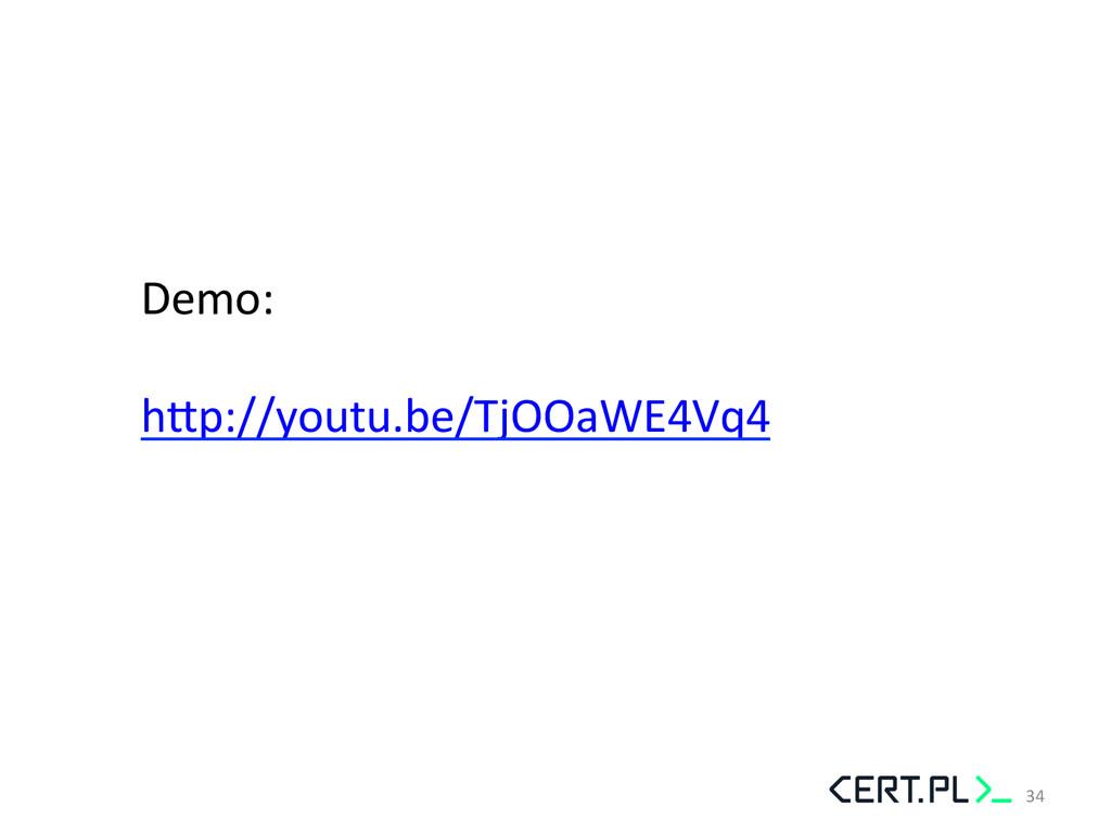 Demo:    hhp://youtu.be/TjOOaWE4Vq4  ...