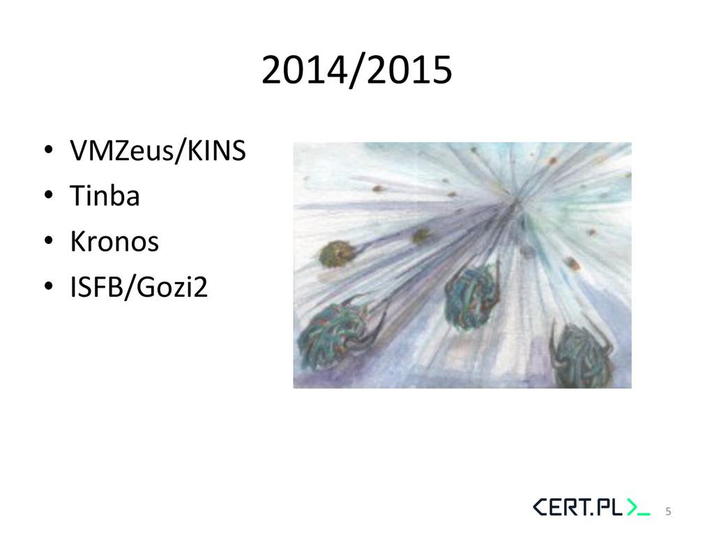 2014/2015  • VMZeus/KINS  • Tinba  •...