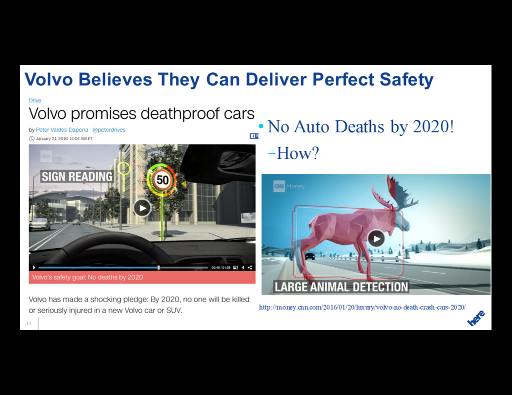 14 • No Auto Deaths by 2020! –How? Volvo Believ...