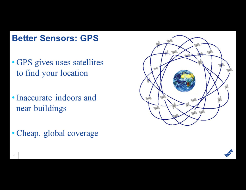 20 • GPS gives uses satellites to find your loc...