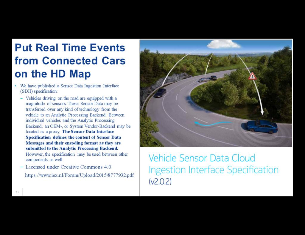 23 • We have published a Sensor Data Ingestion ...