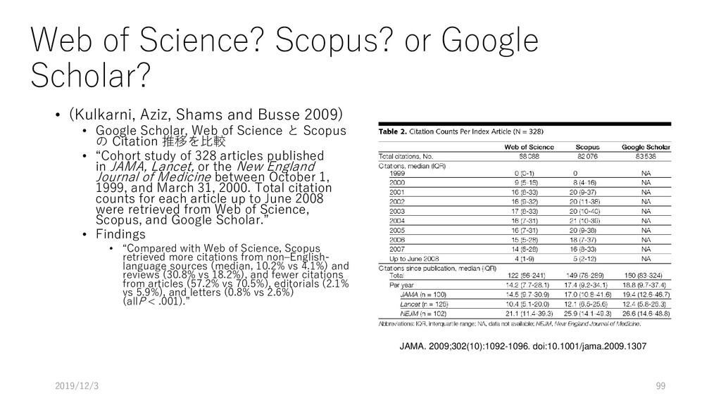 Web of Science? Scopus? or Google Scholar? • (K...