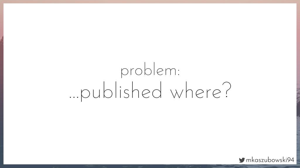 mkaszubowski94 problem: …published where?