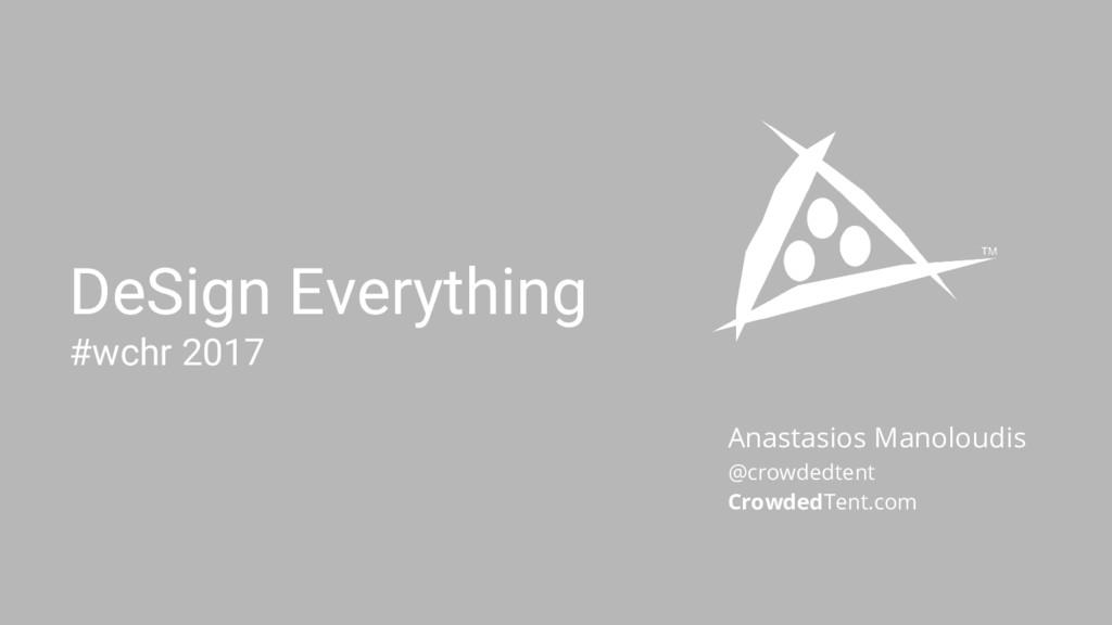 Anastasios Manoloudis @crowdedtent CrowdedTent....