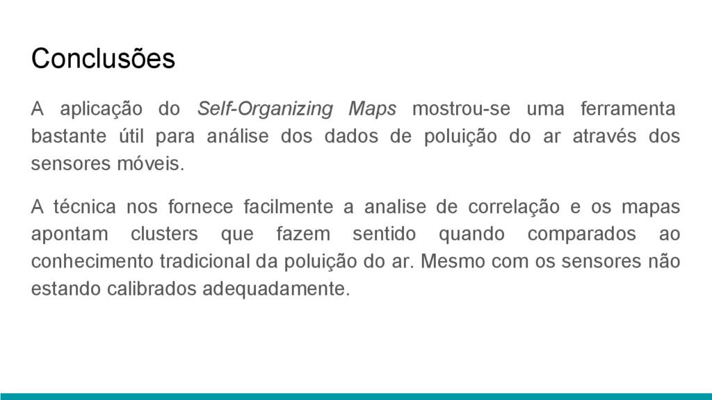 Conclusões A aplicação do Self-Organizing Maps ...