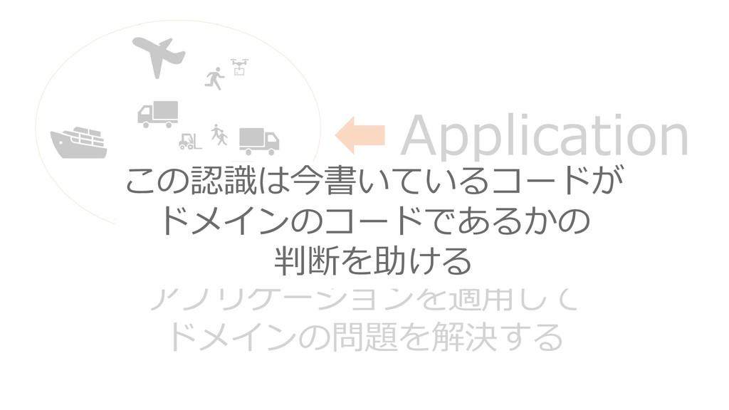 Application アプリケーションを適用して ドメインの問題を解決する この認識は今書い...