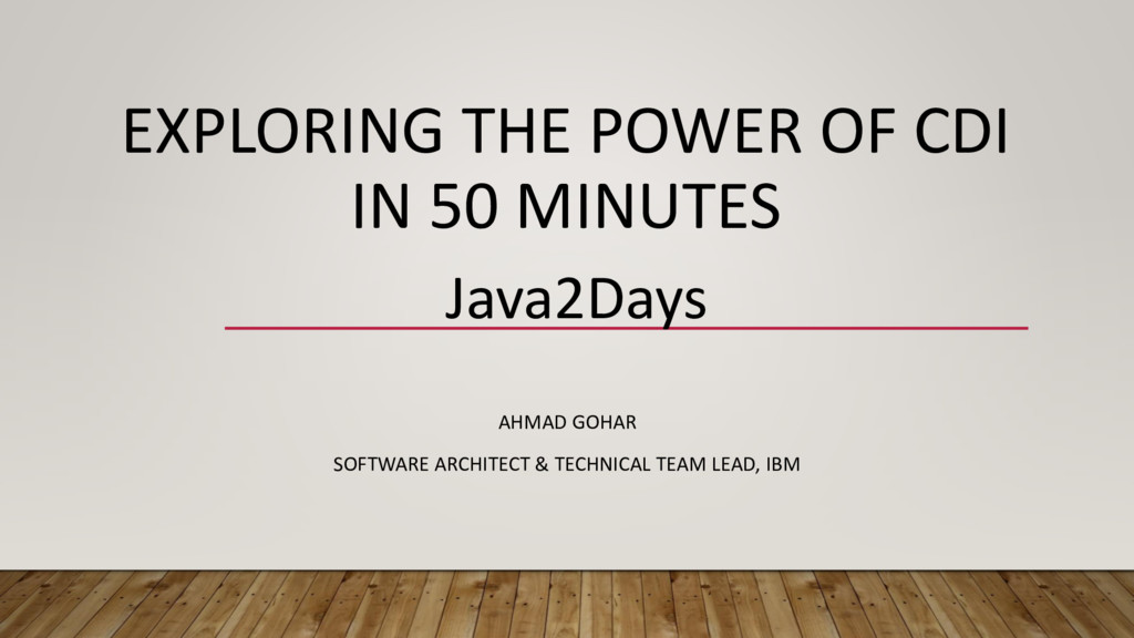 EXPLORING THE POWER OF CDI IN 50 MINUTES AHMAD ...