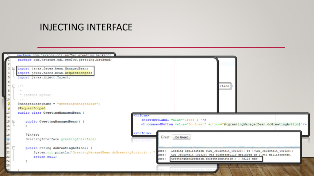 INJECTING INTERFACE